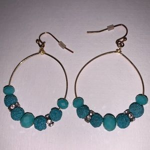 Jewelry - Earrings Turquoise colored hoops